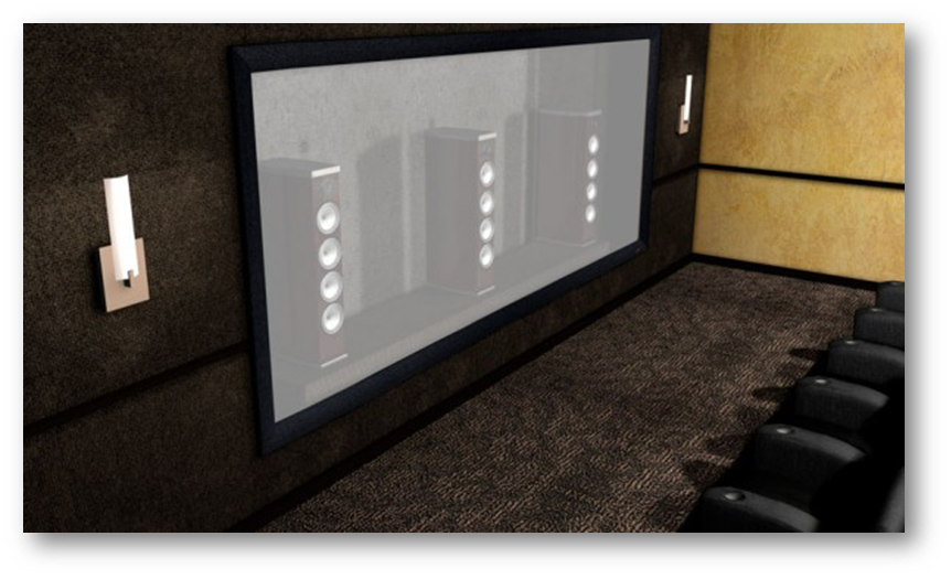 Micro Perforated Home Theater Screen